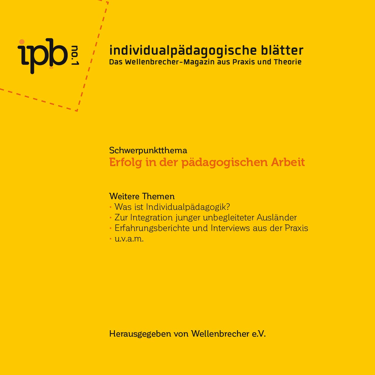 Individualpädagogische Blätter Nr. 1