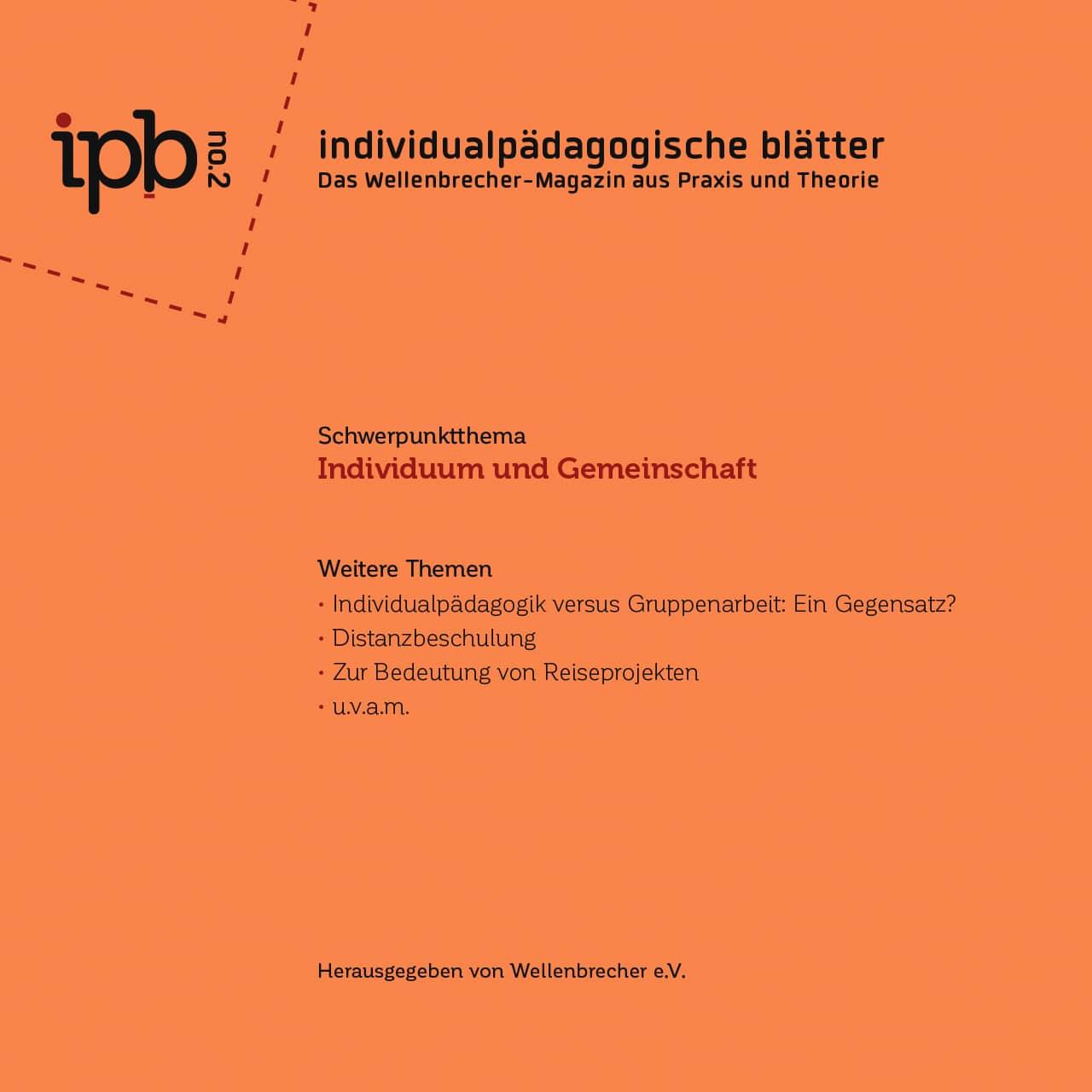 Individualpädagogische Blätter Nr. 2