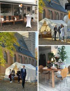Collage von der Feierlichkeit zur Büroeröffnung in Wegberg