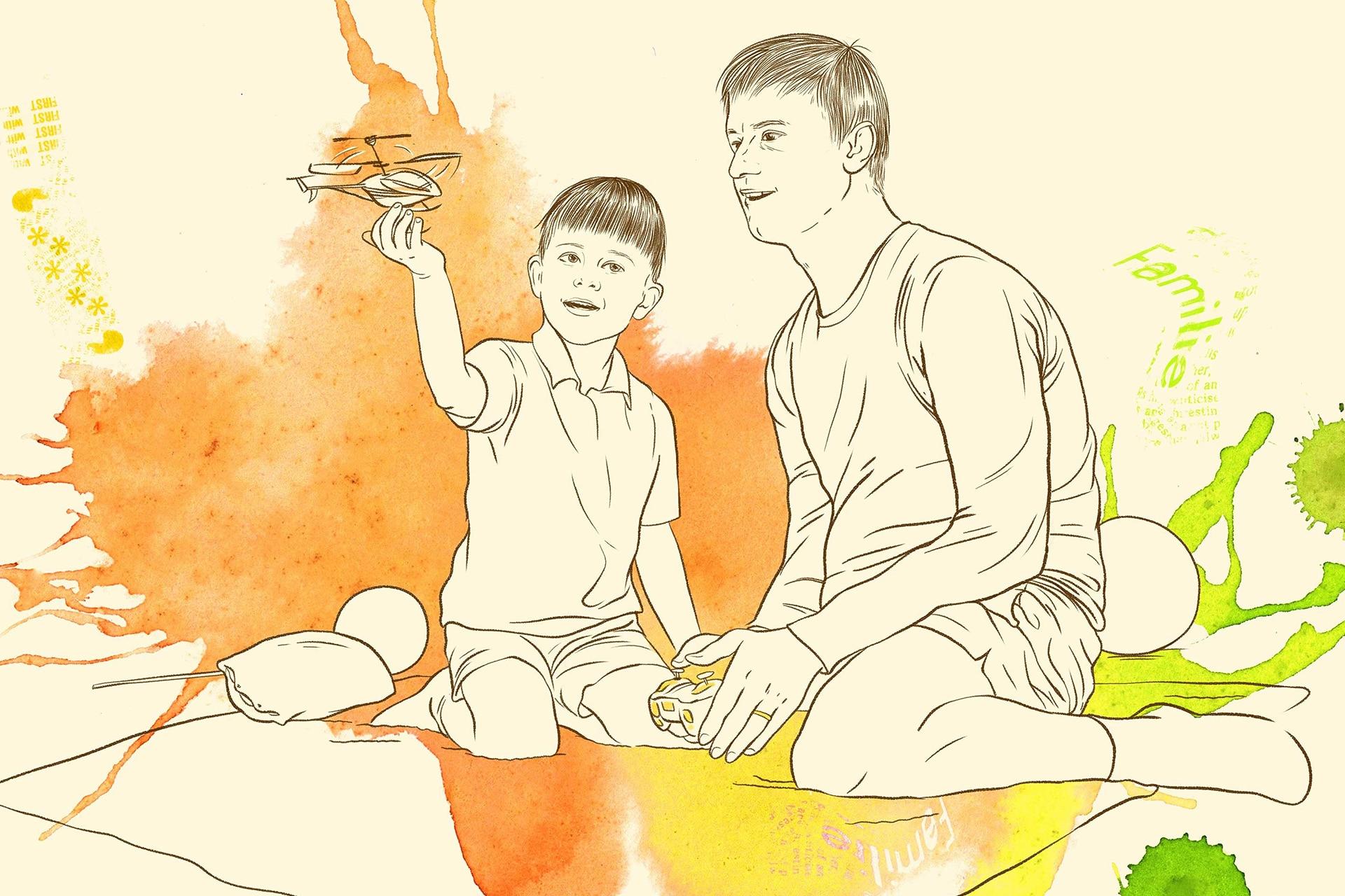 Illustration: Begleiteter Umgang