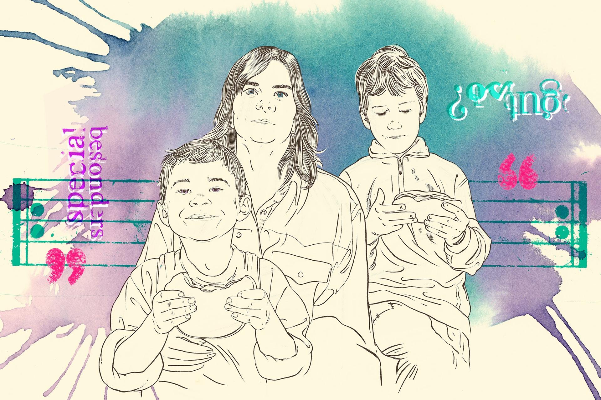 Illustration: Hilfen für Familien mit psychisch erkrankten Eltern