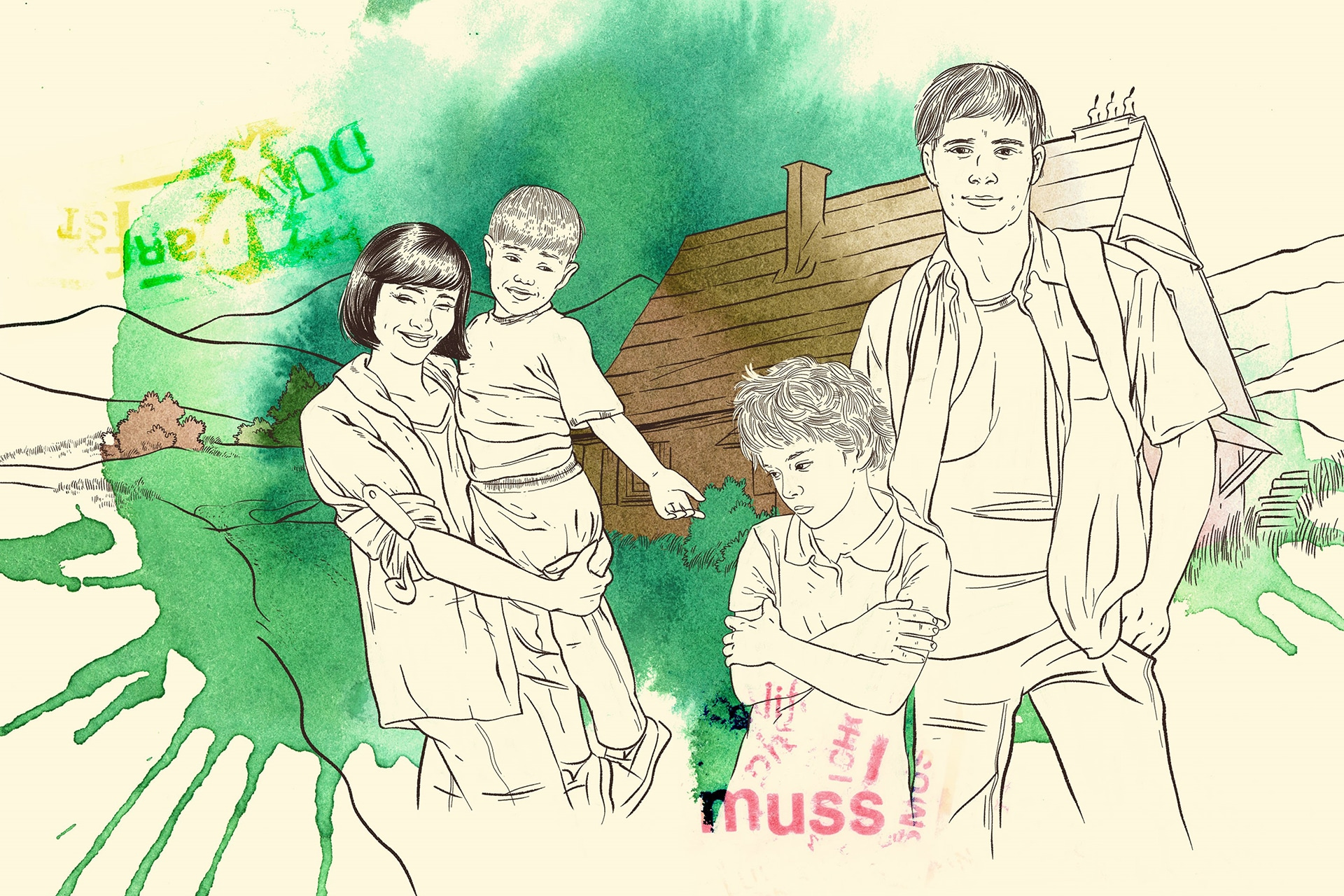 Illustration fuer Familienanaloge Wohnformen