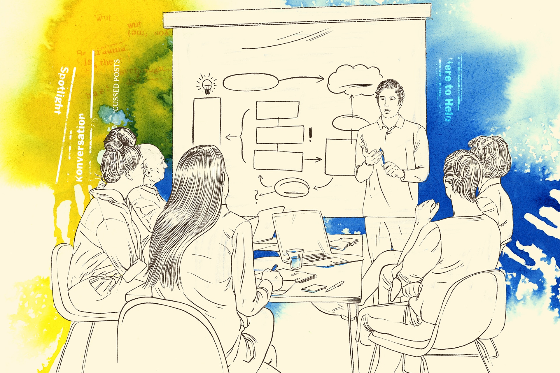 Illustration: Fortbildungen für Lehrerinnen, Lehrer und pädagogische Fachkräfte