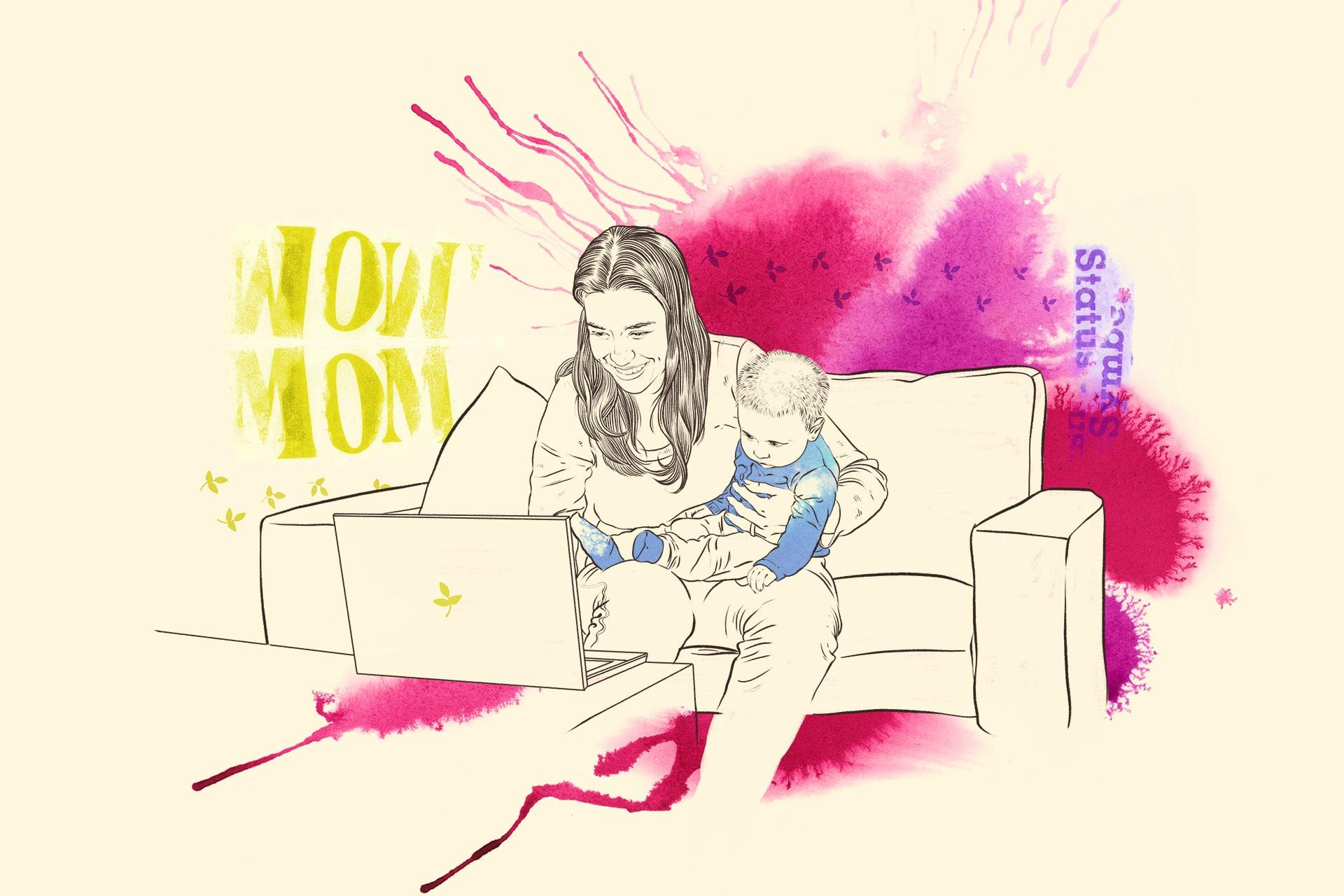 Illustration: Gemeinsame Wohnformen für Mütter/Väter und Kinder