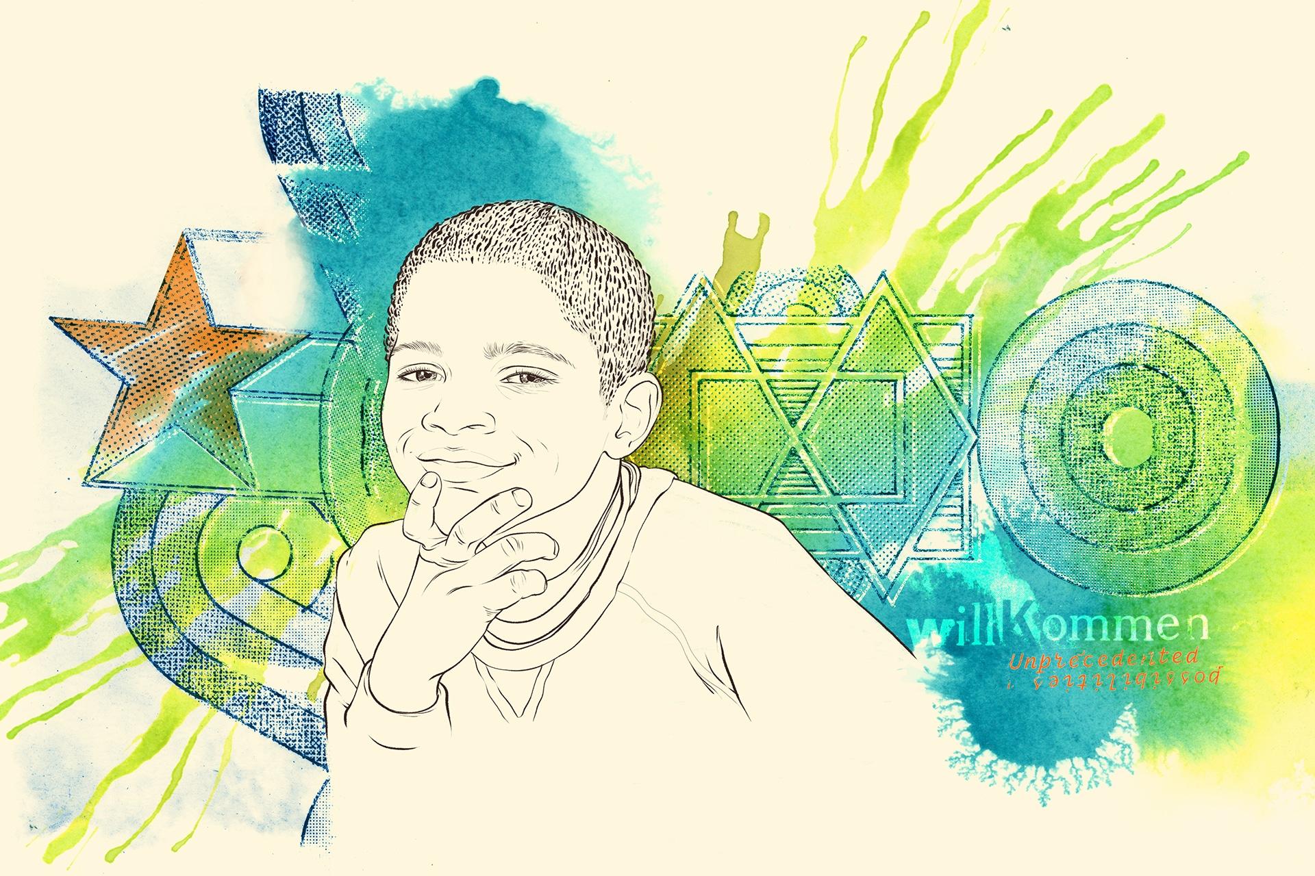 Illustration: Erzieherische Hilfen für Kinder und Jugendliche mit Migrationshintergrund