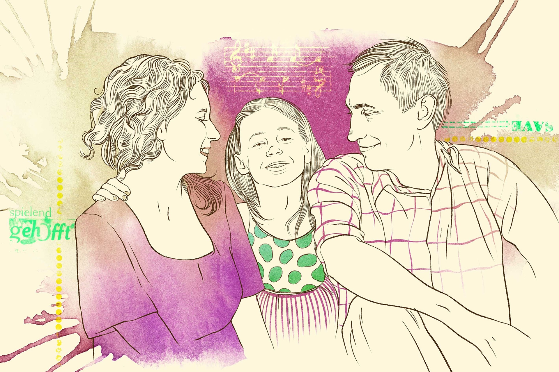 Illustration: Pflegefamilie