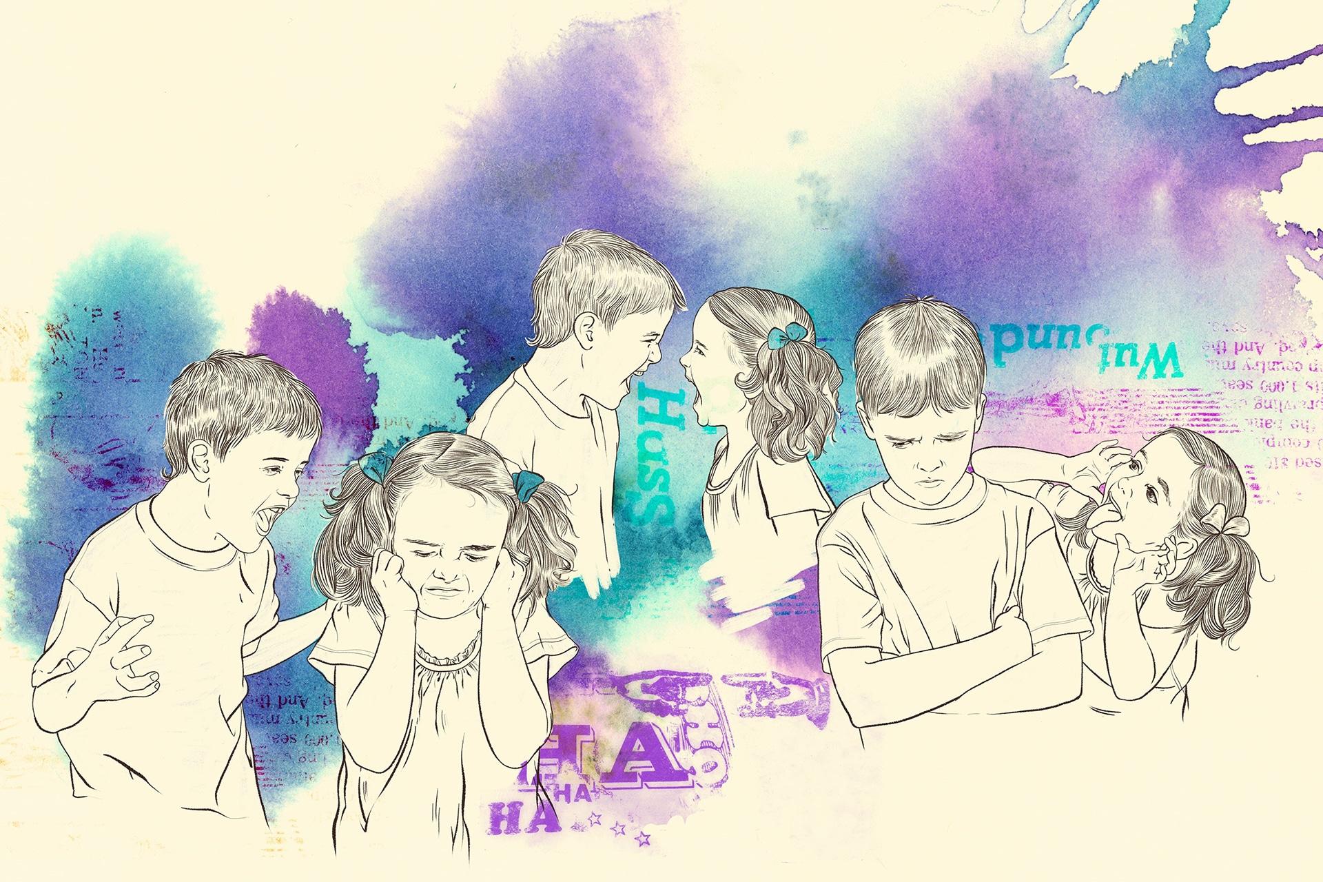Illustration: Präventionsangebote für Schülerinnen und Schüler