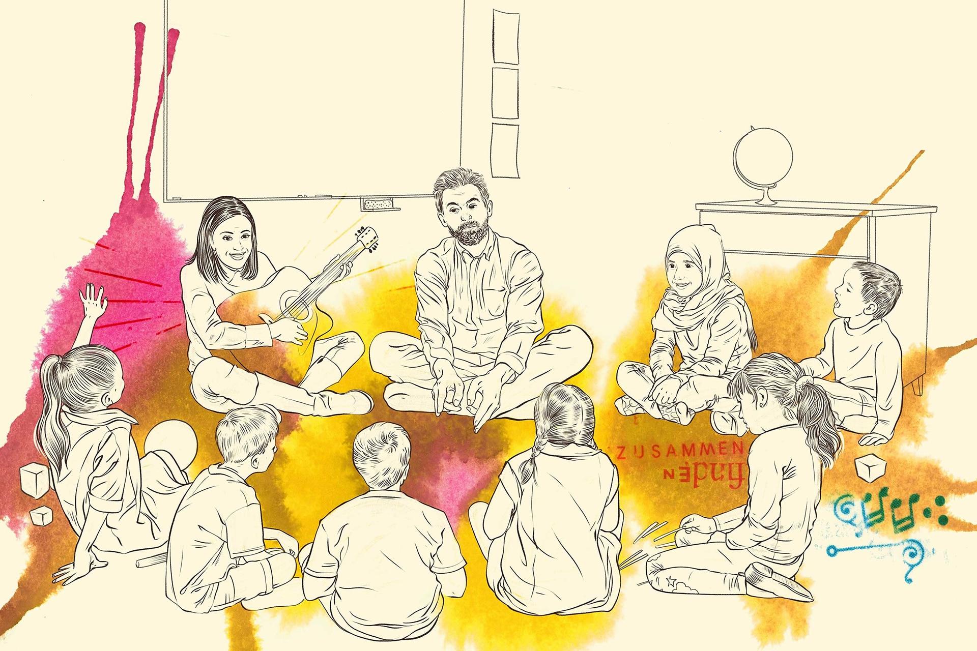 Illustration: Schulsozialarbeit