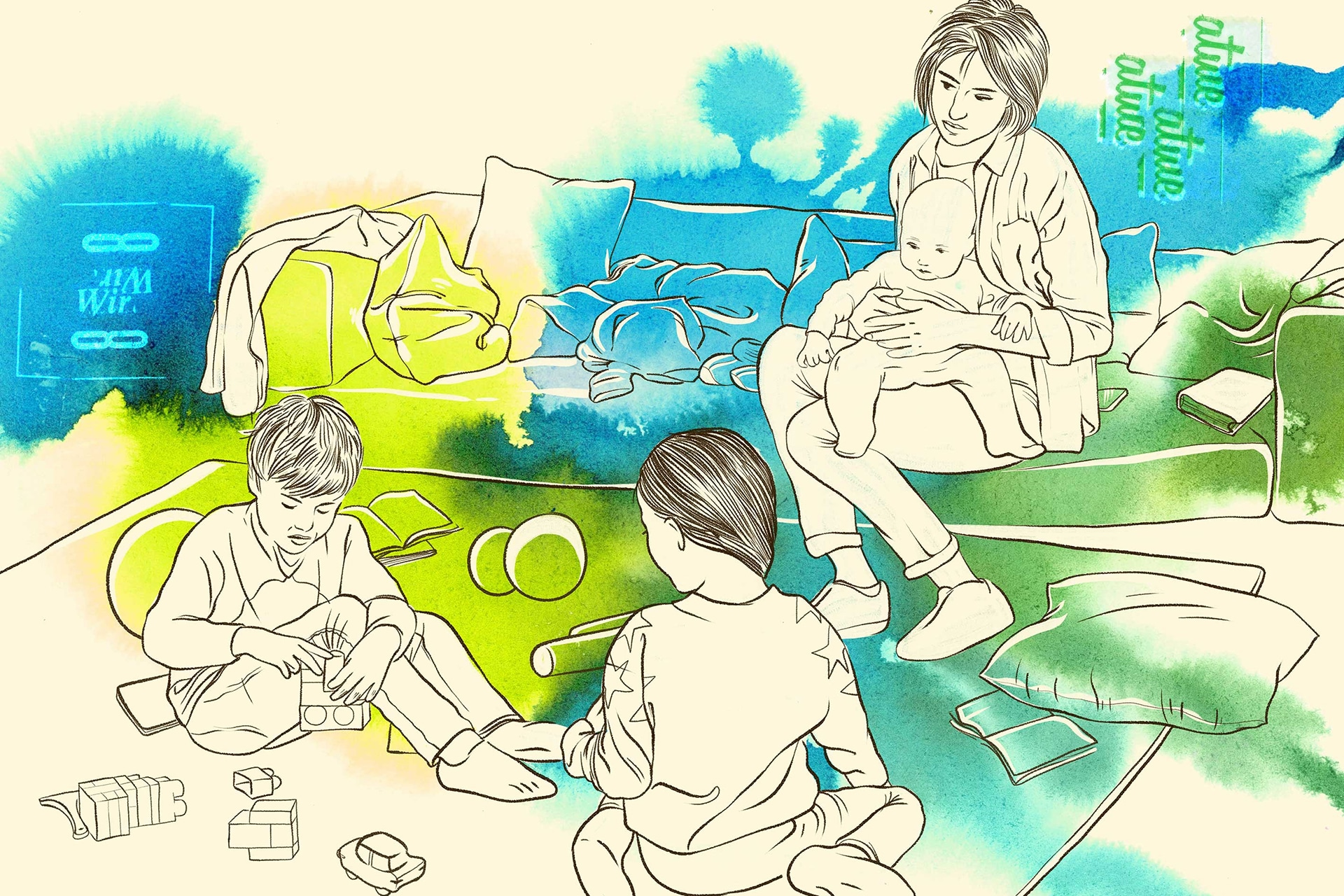 Illustration: Sozialpädagogische Familienhilfe