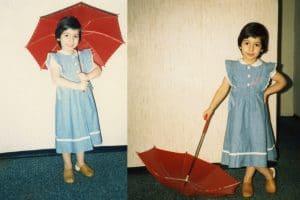 Laura Serra als Kind