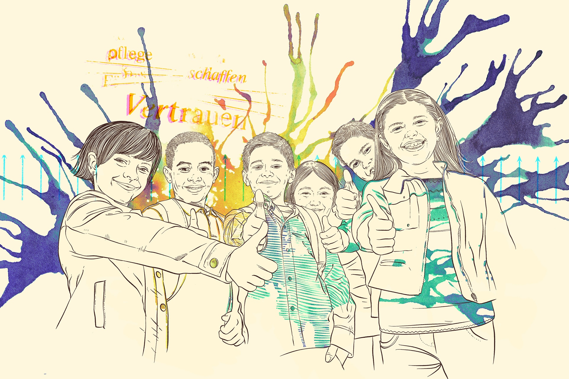 Illustration Pflegekinder