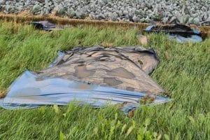 zerstörtes Zelt